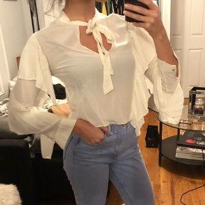 XSmall Zara Blouse with Ruffled Sleeves